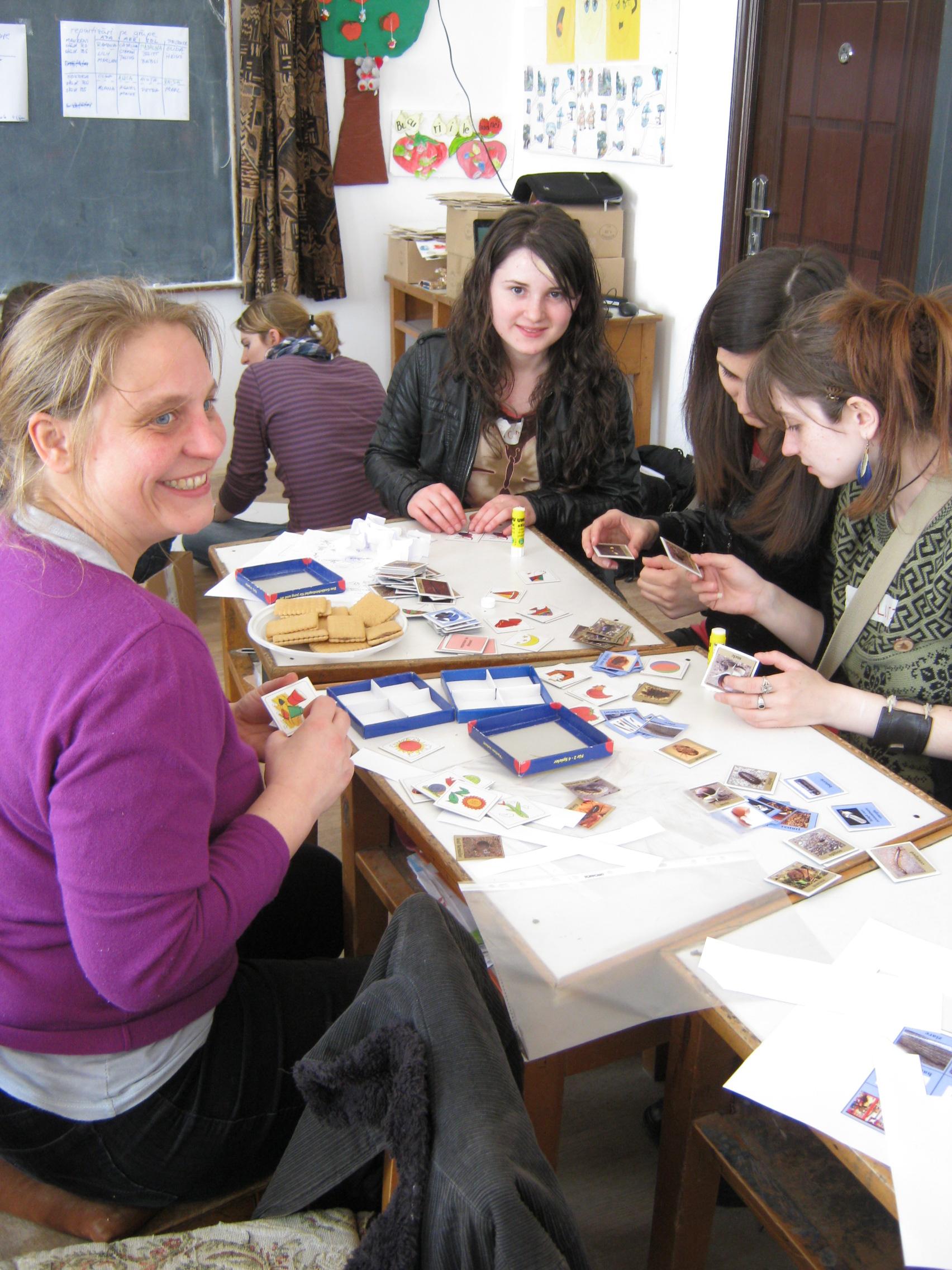 Vorbereitung der Aktivitäten mit rumänischen Schulklassen